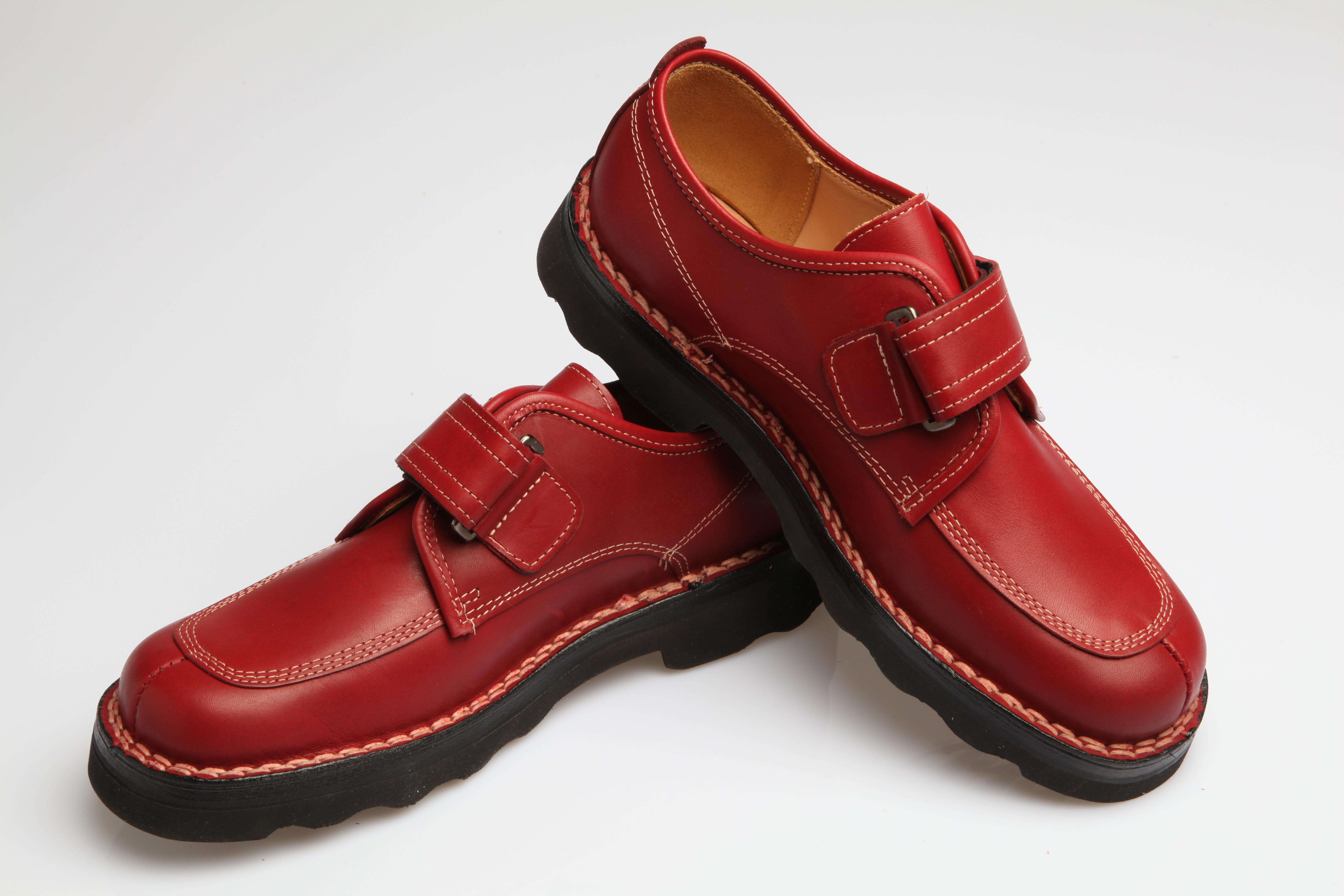 Chaussures Cuir Gatine Elry Rouge 42 Hommes: Chaussures