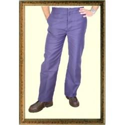 Pantalon droit moleskine à passants